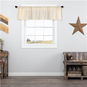 Tobacco Cloth Natural Valance Fringed 16x72