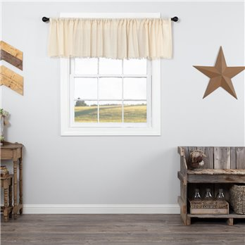 Tobacco Cloth Natural Valance Fringed 16x90