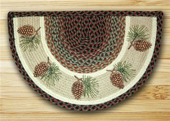 "Pinecone Braided and Printed Slice Rug 18""x29"""