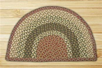 "Olive, Burgundy & Gray Small Rug Slice 18""x29"""