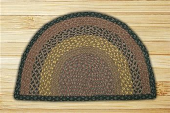 "Brown, Black & Charcoal Small Rug Slice 18""x29"""