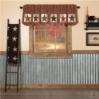 Abilene Patch Block and Star Valance 20x72
