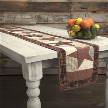 Abilene Star Quilted Runner 13x72