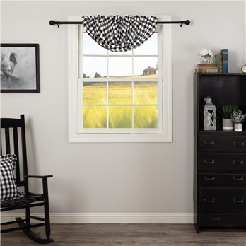 Annie Buffalo Black Check Balloon Valance 15x60