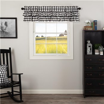 Annie Buffalo Black Check Ruffled Valance 16x60