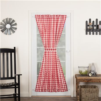 Annie Buffalo Red Check Door Panel 72x40