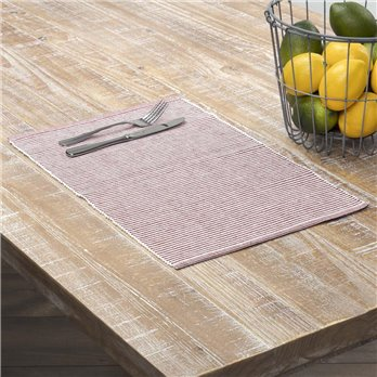 Ashton Rust Ribbed Placemat Set of 6 12x18