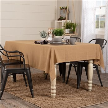 Burlap Natural Table Cloth 60x80