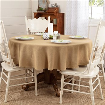 Burlap Natural Table Cloth 70 Round