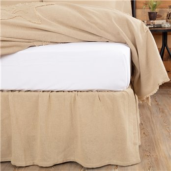 Burlap Vintage Ruffled Twin Bed Skirt 39x76x16