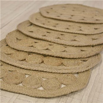 Celeste Jute Placemat Set of 6 12x18