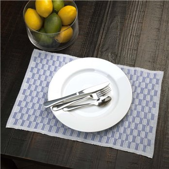 Chandler Ribbed Placemat Set of 6 12x18