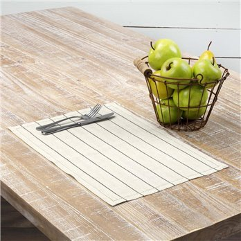 Charley Black Placemat Set of 6 12x18