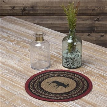 Cumberland Stenciled Moose Jute Tablemat 13 Set of 6