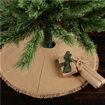 Festive Natural Burlap Mini Tree Skirt 21