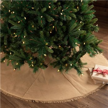Festive Natural Burlap Tree Skirt 60