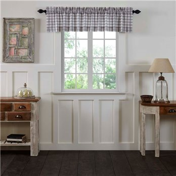 Annie Buffalo Grey Check Valance 16x72