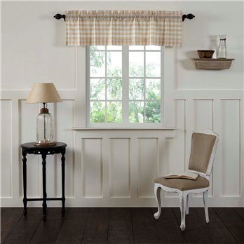Annie Buffalo Tan Check Valance 16x60