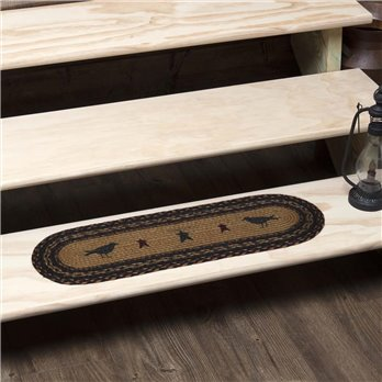Heritage Farms Crow Jute Stair Tread Oval Latex 8.5x27