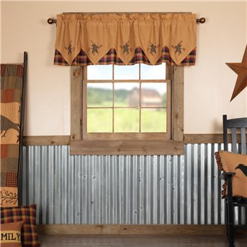 Heritage Farms Primitive Star and Pip Valance Layered 20x72