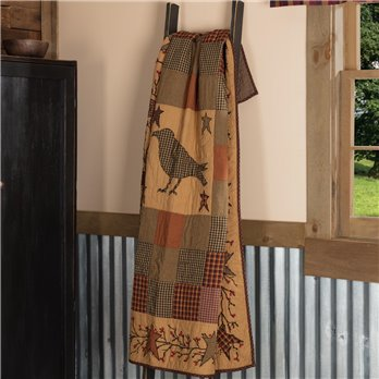 Heritage Farms Applique Crow and Star Quilted Throw 60x50