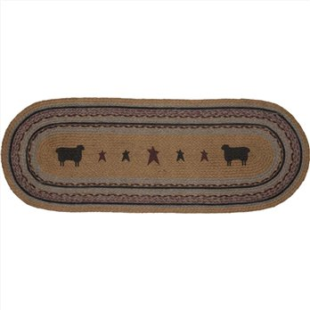 Heritage Farms Sheep Jute Runner 13x36