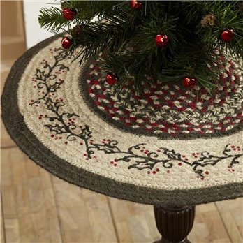 Holly Berry Jute Stencil Mini Tree Skirt 21