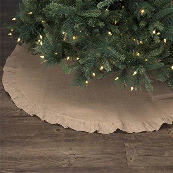 Jute Burlap Natural Tree Skirt 48