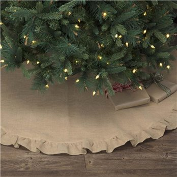 Jute Burlap Natural Tree Skirt 55