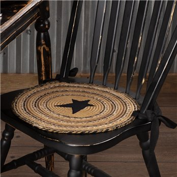 Kettle Grove Jute Chair Pad Applique Star Set of 6
