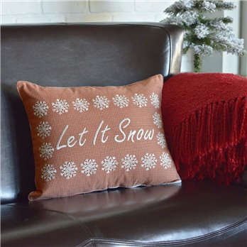 Let It Snow Pillow 14x18