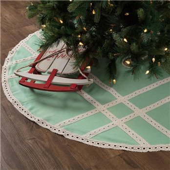 Margot Mint Tree Skirt 60
