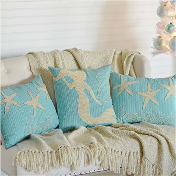 Nerine Seas & Greetings Set of 3 Pillows-Asstd Sizes