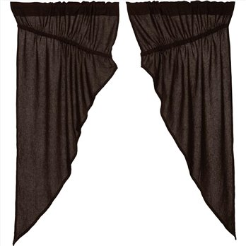 Burlap Chocolate Prairie Short Panel Set of 2 63x36x18