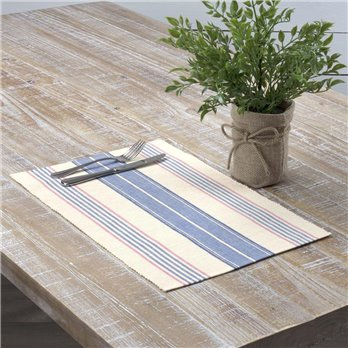 Cadence Ribbed Placemat Set of 6 12x18