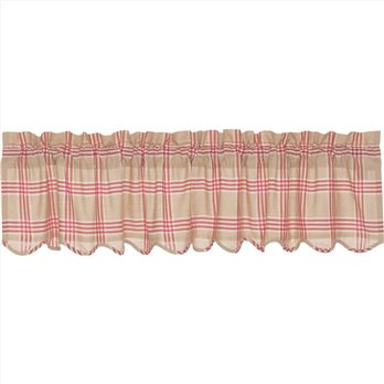 Elaine Rouge Scalloped Valance 16x72