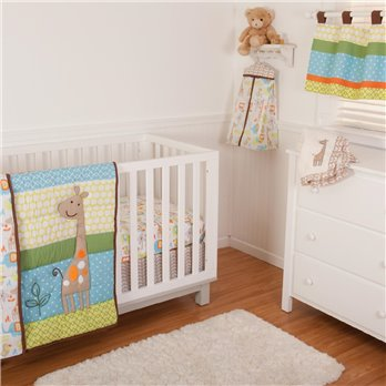 Just Hangin Crib Set (Includes: Crib Quilt, Crib Sheet, Dust Ruffle, Bumper, Valance)