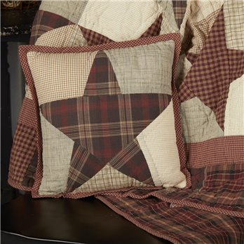 Abilene Star Quilted Pillow 12x12
