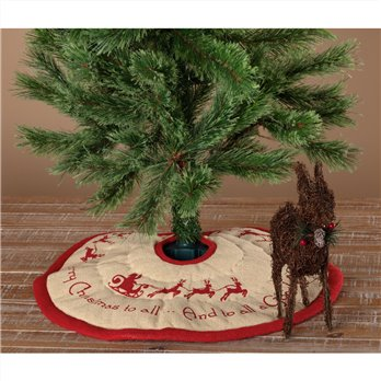 Burlap Santa Mini Tree Skirt 21