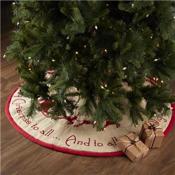 Burlap Santa Tree Skirt 48