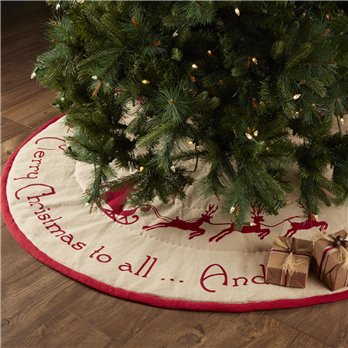 Burlap Santa Tree Skirt 60