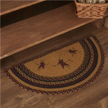 Heritage Farms Star and Pip Jute Half Circle Rug 16.5x33