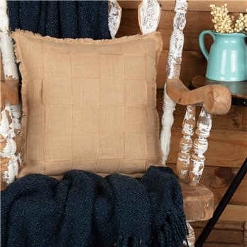 Jute Burlap Natural Basket Weave Pillow 18x18