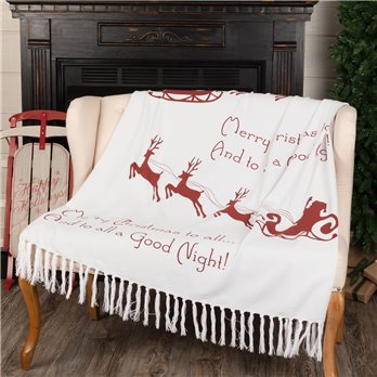 Santa Sleigh Woven Throw 60x50
