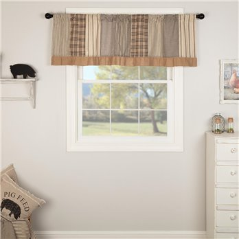Sawyer Mill Charcoal Patchwork Valance 19x60