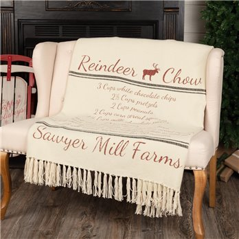 Sawyer Mill Reindeer Chow Woven Throw 60x50