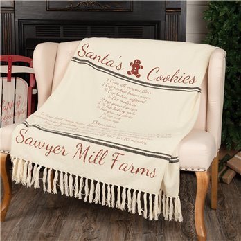 Sawyer Mill Santa Cookies Woven Throw 60x50