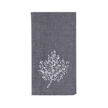 Leaf Filigree Embroidered Napkin