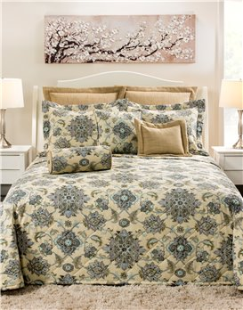 Brooklyn Graphite Queen Bedspread