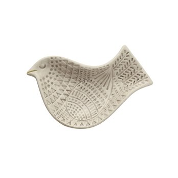 Small Embossed Ceramic Bird Plate